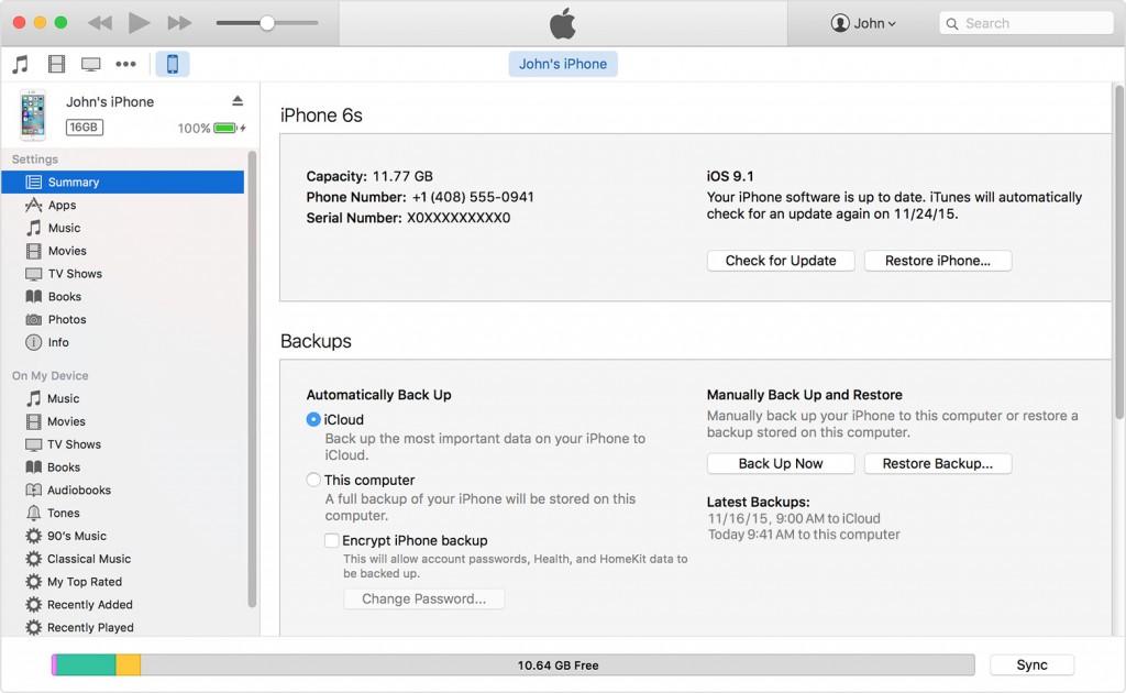 back up iPhone, iPad